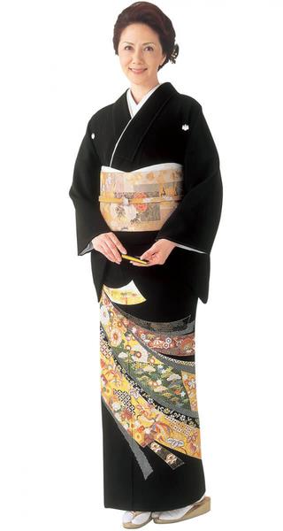 【全国往復送料無料】 留袖フルセットレンタル 普通巾【002-208 吉祥のしめ】
