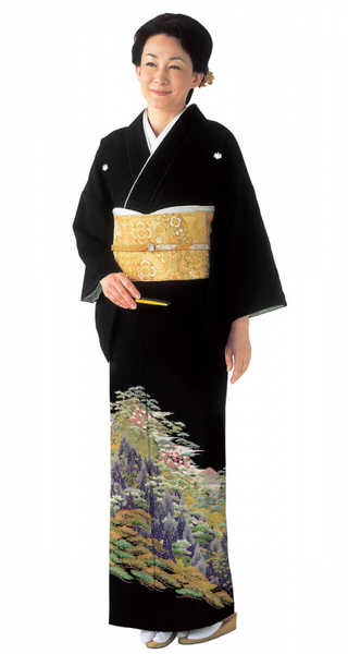 【全国往復送料無料】 留袖フルセットレンタル 普通巾【6249 加賀山水】