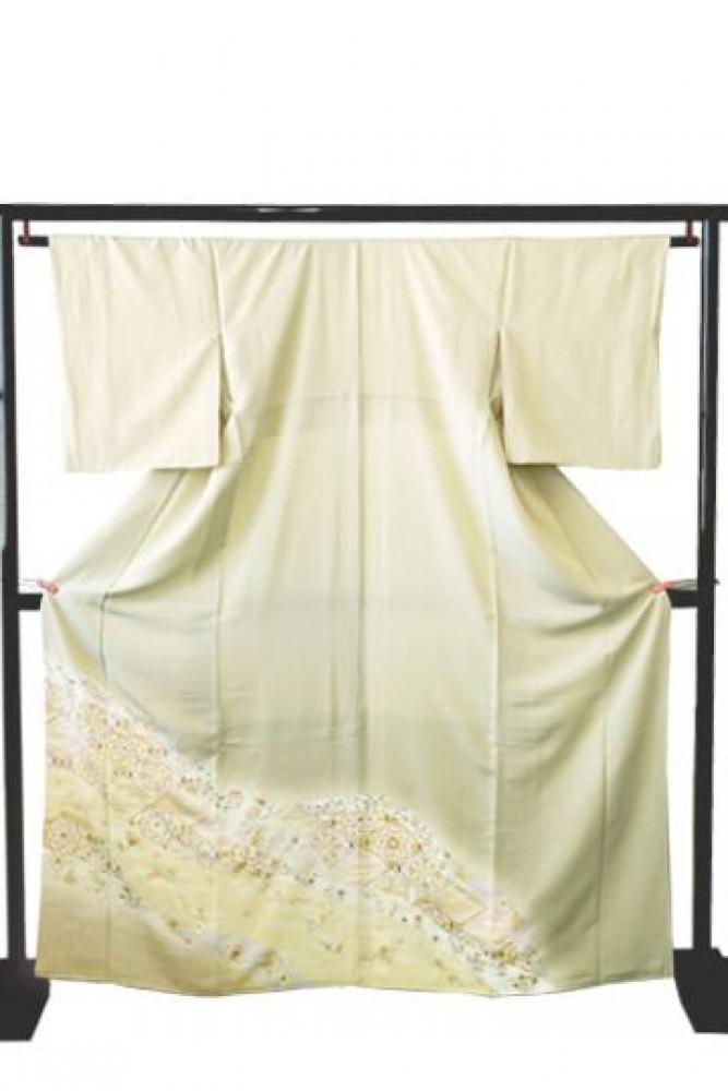 【全国往復送料無料】 色留袖フルセットレンタル 普通巾【9026 春秋花】