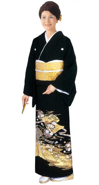【全国往復送料無料】 留袖フルセットレンタル 普通巾【002-020 誰が袖】