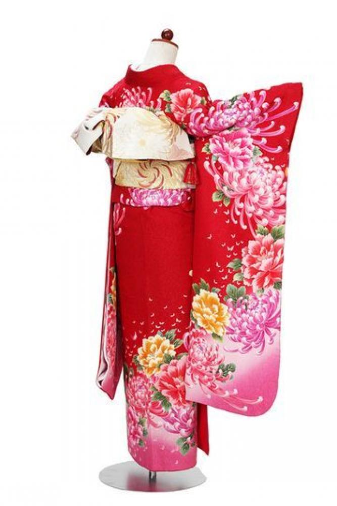 【全国往復送料無料】 中振袖フルセットレンタル SM丈【409-1 華手箱】