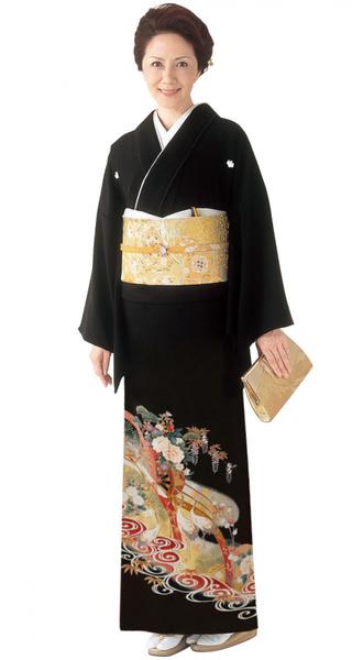 【全国往復送料無料】 留袖フルセットレンタル 普通巾【4018 雲からの贈物】