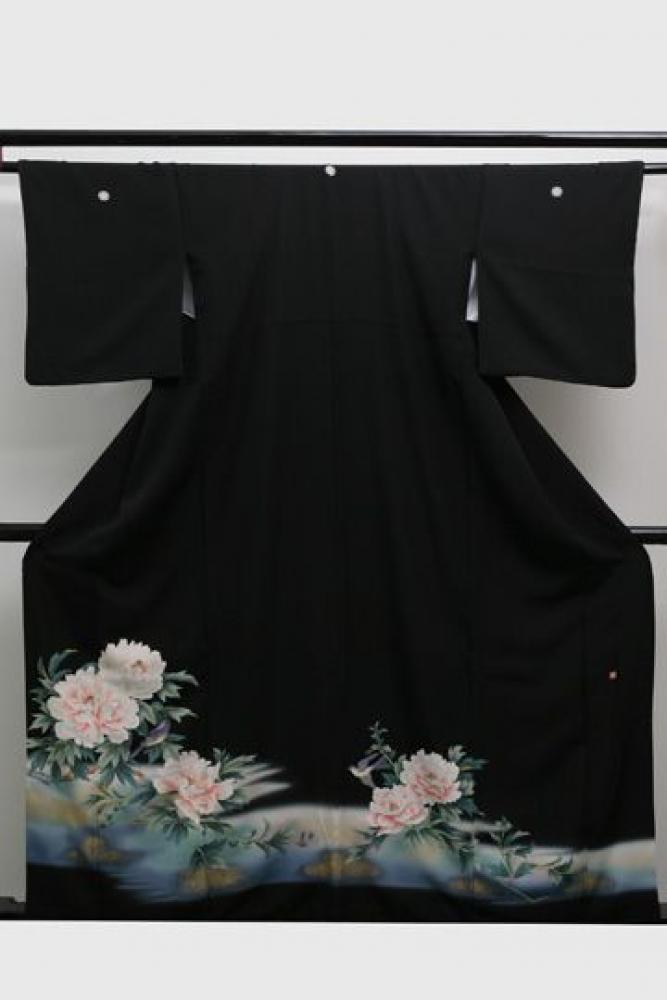 【全国往復送料無料】 留袖フルセットレンタル 普通巾【6243 牡丹】