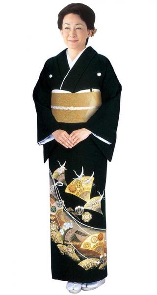 【全国往復送料無料】 留袖フルセットレンタル 普通巾【002-019 変り扇面】