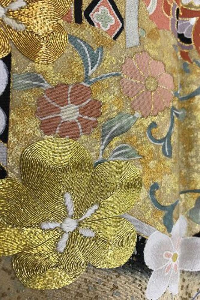 【全国往復送料無料】 留袖フルセットレンタル 普通巾【5034 梅に花文様】