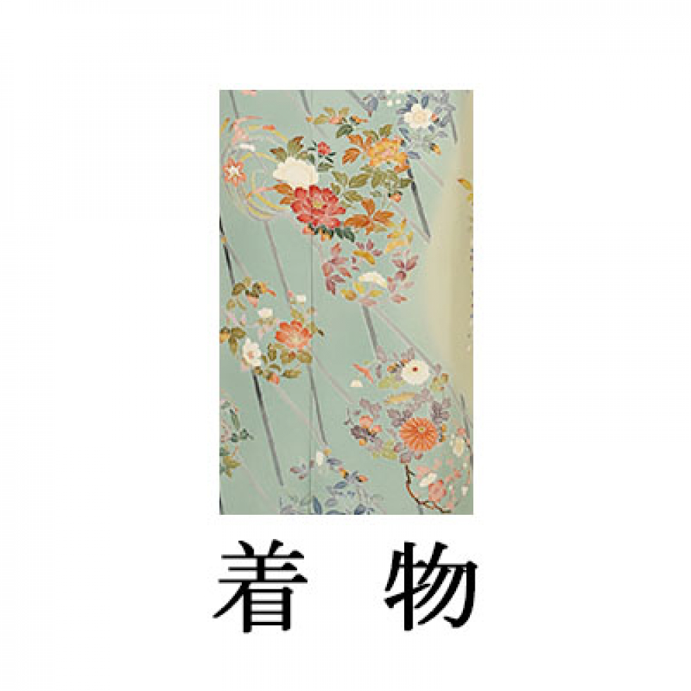 WEB訪問着【003-312 加賀調もえぎ染四季花】