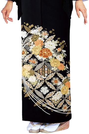 ★新作★【全国往復送料無料】 留袖フルセットレンタル 普通巾【6299 熨斗に七宝(総刺繍)】
