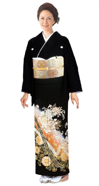 【全国往復送料無料】 留袖フルセットレンタル 普通巾【6289 金彩洋花にかずら帯(京友禅)】