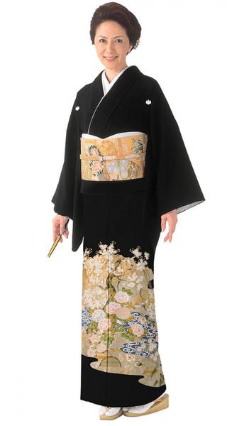【全国往復送料無料】 留袖フルセットレンタル 普通巾【6265 琳派の流れ(京友禅)】