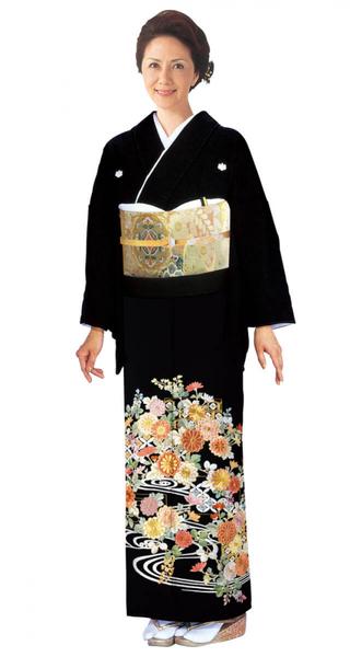 【全国往復送料無料】 留袖フルセットレンタル 着丈長め【8011 観世水草花(総刺繍)】