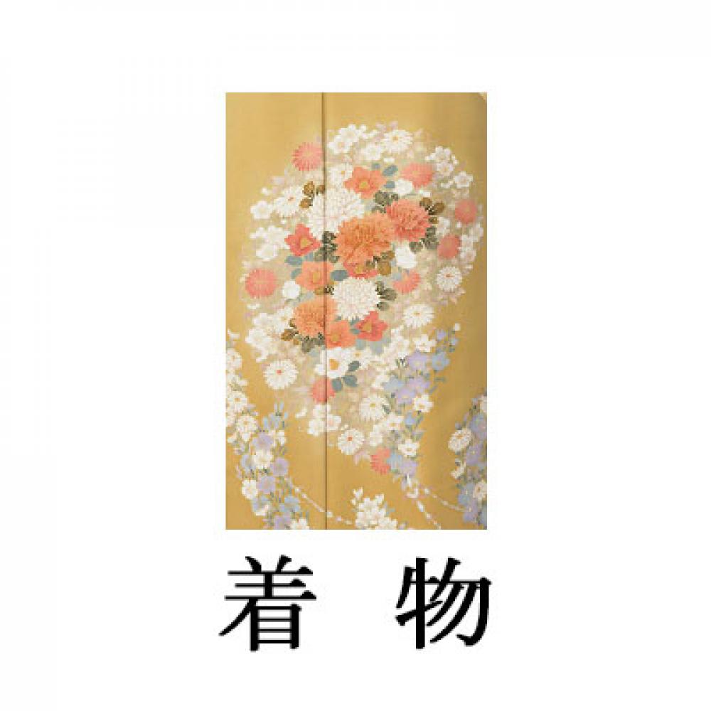 WEB色留袖【9017 金茶地百花(京友禅)】