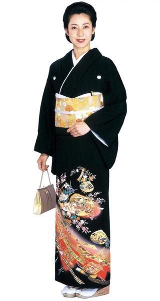【全国往復送料無料】 留袖フルセットレンタル 普通巾【002-064 貝合せ熨斗】