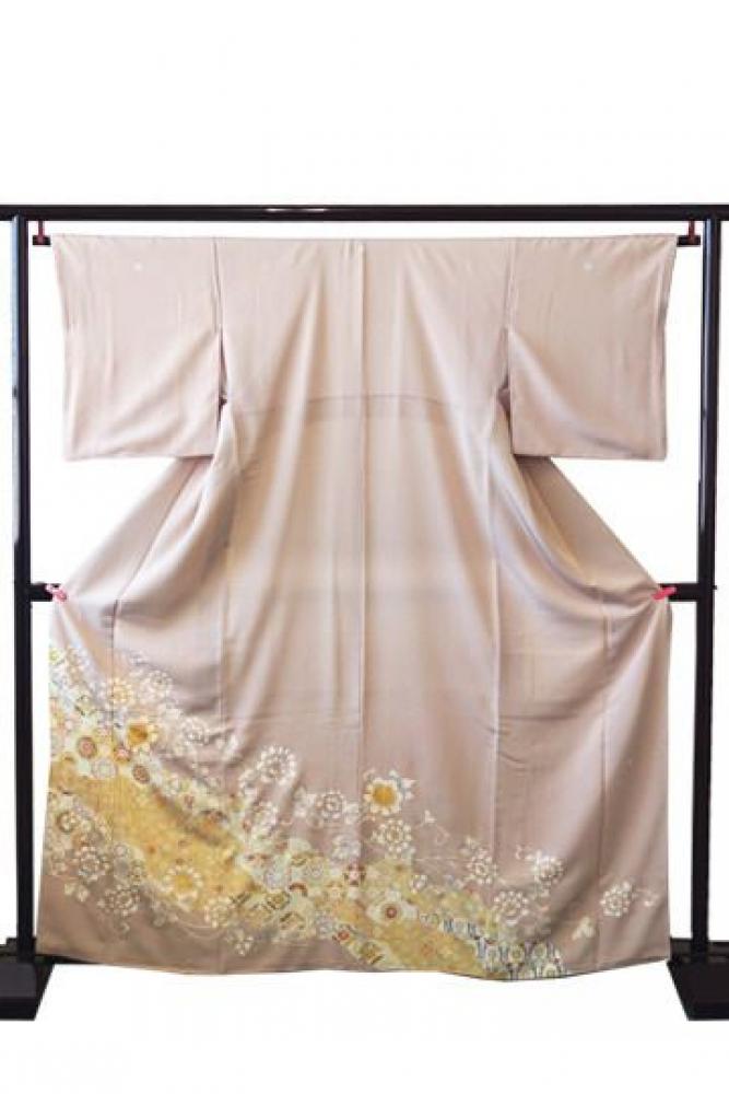 ★新作★【全国往復送料無料】 色留袖フルセットレンタル 普通巾【9024 牡丹唐草】