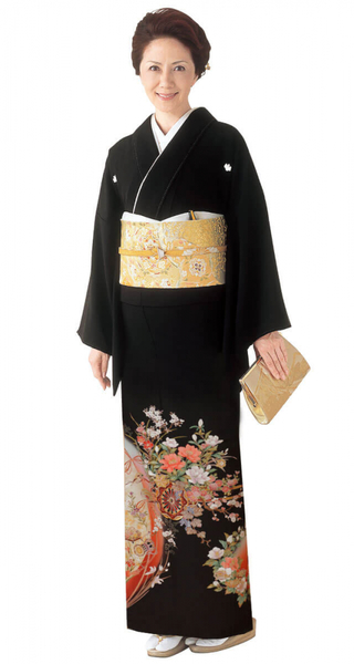 【全国往復送料無料】 留袖フルセットレンタル 普通巾【5041 桜舞う】