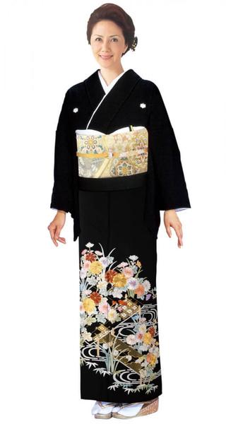 【全国往復送料無料】 留袖フルセットレンタル 広巾【1027 流水小花(総刺繍)】