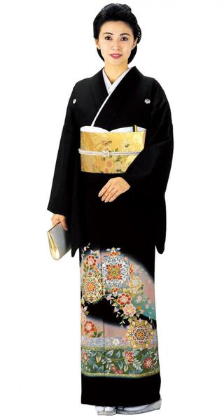 【全国往復送料無料】 留袖フルセットレンタル 普通巾【6258 萌黄ピンクぼかし鏡紋(京友禅)】