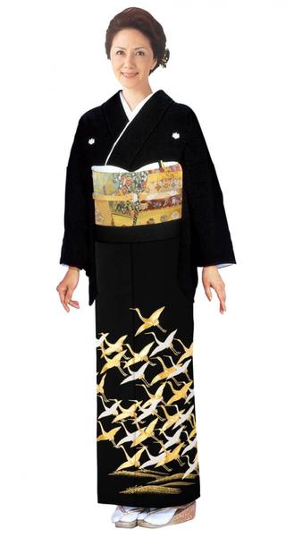 【全国往復送料無料】 留袖フルセットレンタル 普通巾【6276 光琳鶴(高級相良刺繍)】
