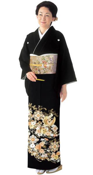 【全国往復送料無料】 留袖フルセットレンタル 広巾【1034 華紋に鳳凰(総刺繍)】