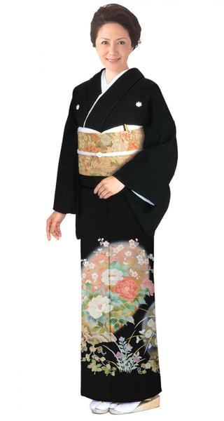 【全国往復送料無料】 留袖フルセットレンタル 普通巾【6262 丸紋ぼかし草花(京友禅)】