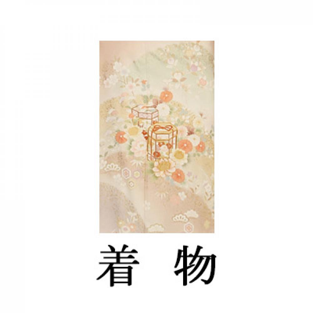 WEB訪問着【003-306 ローズ地 小花に貝桶】