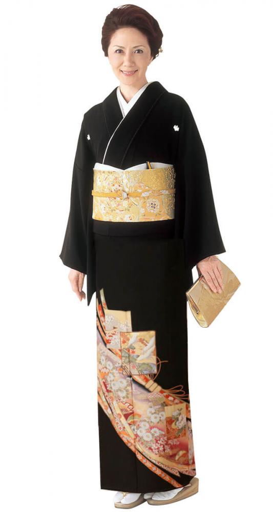 【全国往復送料無料】 留袖フルセットレンタル 普通巾【5035 隠れ熨斗】