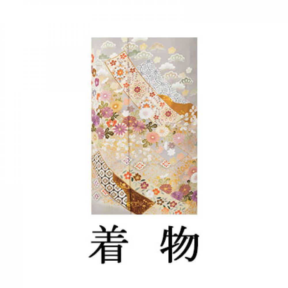 WEB色留袖【9014 グレー地熨斗に小花ちらし】