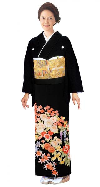 【全国往復送料無料】 留袖フルセットレンタル 普通巾【6275 四季彩々(高級相良刺繍)】