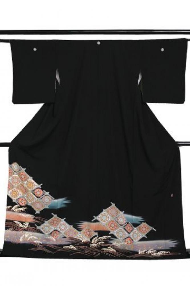 【全国往復送料無料】 留袖フルセットレンタル 普通巾【6245 桃山天井】