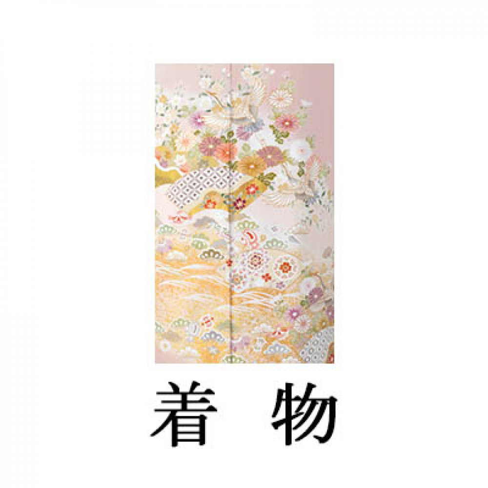 WEB色留袖【9025 七宝に飛鶴】