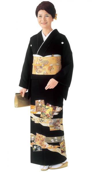 【全国往復送料無料】 留袖フルセットレンタル 普通巾【002-210 琳派色紙ちらし】