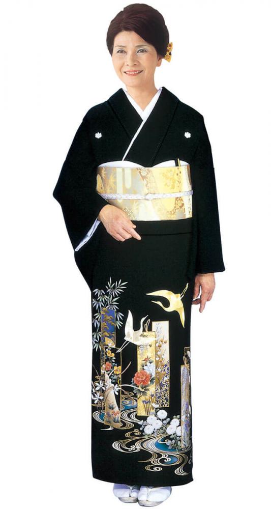 【全国往復送料無料】 留袖フルセットレンタル 広巾【002-100 翔鶴】