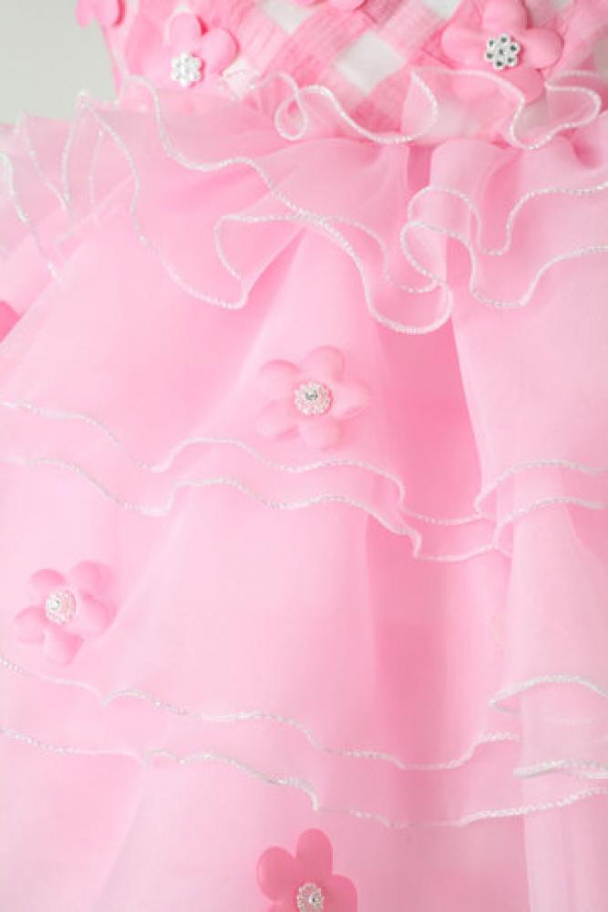 【全国往復送料無料】 ジュニアドレスレンタル 【ピンクキャンディ】90cm